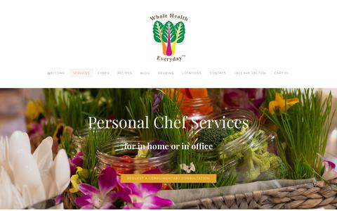 Screenshot of Services Page wholehealtheveryday.com - Services - Whole Health Everyday - captured Oct. 20, 2018