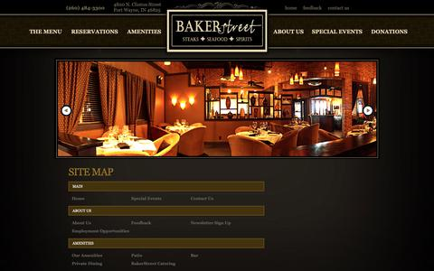 Screenshot of Site Map Page bakerstreetfortwayne.com - Site Map - captured Oct. 5, 2018