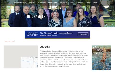 Screenshot of About Page ubcc.org - About Us | Upper Bucks Chamber of Commerce | Quakertown, PA - captured May 29, 2019
