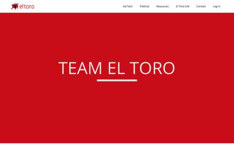 Screenshot of Team Page eltoro.com - Team El Toro - Meet the El Toro IP Targeting Team - captured Feb. 6, 2018