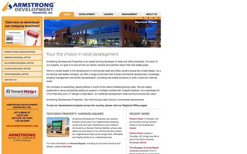 Screenshot of Home Page armstrongdev.com - Armstrong Development Properties, Inc. - captured Feb. 6, 2016