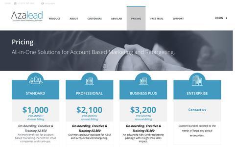 Pricing - Azalead - Account Based Marketing Software