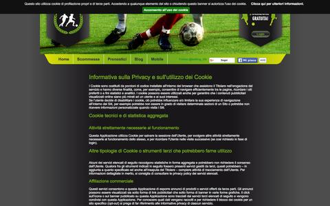 Screenshot of Privacy Page bettinglife.it - BettingLife - Utilizzo dei cookie - captured Jan. 2, 2016