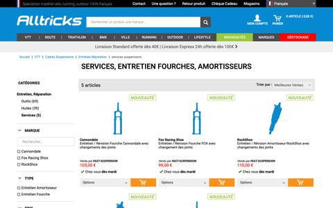 Screenshot of Services Page alltricks.fr - Services, Entretien Fourches, Amortisseurs         | Alltricks - captured Sept. 29, 2018
