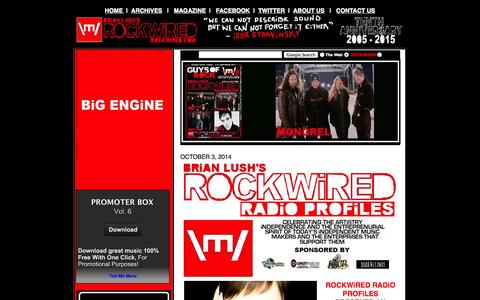 Screenshot of Home Page rockwired.com - ROCKWiRED.COM - ONLiNE RADiO THAT ROCKS!!! - captured Oct. 6, 2014