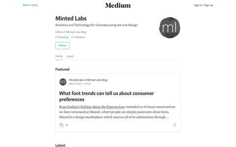 Minted Labs – Medium