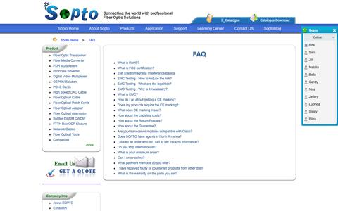 Screenshot of FAQ Page sopto.com - FAQ - captured Nov. 29, 2016