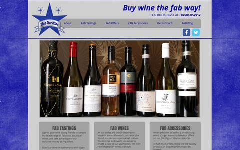 Screenshot of Home Page bluestarwine.co.uk - Blue Star Wine | Wine tasting events - Merseyside, Cheshire & N Wales - captured Sept. 30, 2014