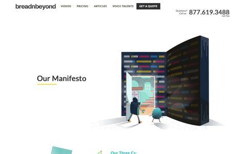 Our Manifesto   Breadnbeyond