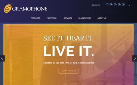 Screenshot of Home Page gramophone.com - Gramophone | See It. Hear It. Live It. - captured July 25, 2015