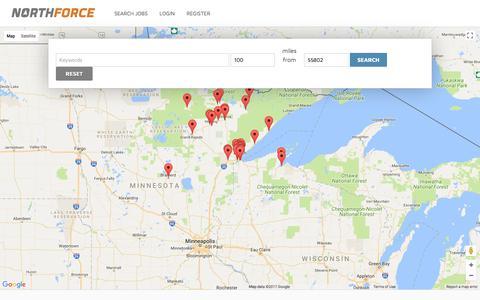 Screenshot of Maps & Directions Page northforce.org - JobOpenings : NORTHFORCE - captured Nov. 4, 2017
