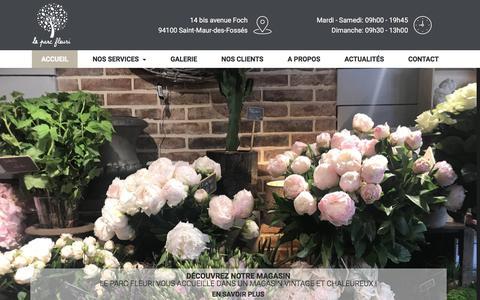 Screenshot of Home Page leparcfleuri.fr - Artisan Fleuriste 94   Fleuriste créateur Val-de-Marne   Fleuriste 94 - captured July 16, 2018