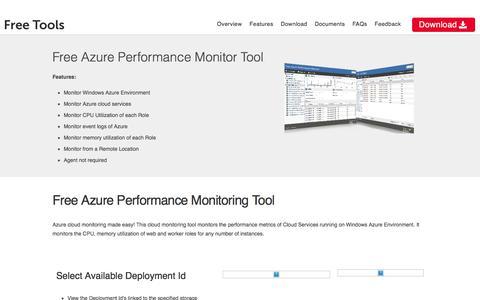 Free Azure Performance Monitor Tool