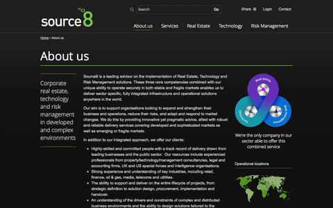 Screenshot of About Page source8.com - About us - Source8 - captured Sept. 30, 2014