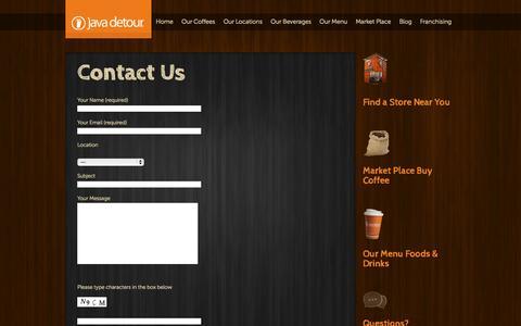 Screenshot of Contact Page javadetour.com - Contact Us - captured Sept. 30, 2014