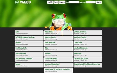 Screenshot of Home Page wild3d.com - Wild3D - captured June 17, 2015