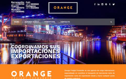 Screenshot of Home Page orangefreight.co - Orange Freight Forwarder  Home - Orange Freight Forwarder - captured Dec. 1, 2016