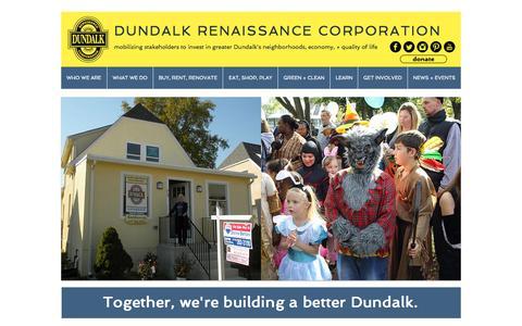 Screenshot of Contact Page dundalkusa.org - Dundalk Renaissance Corporation - captured Sept. 25, 2015