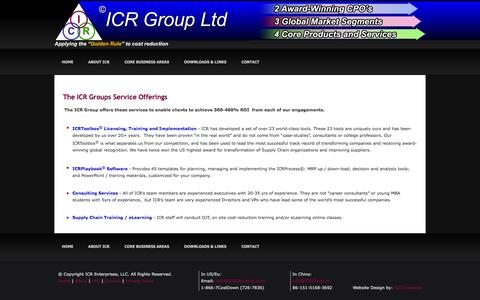 Screenshot of Services Page icrgroupltd.com - ICR Group - captured Feb. 3, 2016