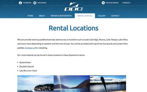 Screenshot of Locations Page pacificpaddlecompany.com - Rental Locations - | Pacific Paddle Company - captured Oct. 7, 2014