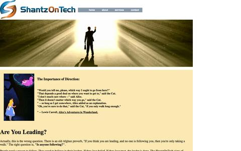 Screenshot of Team Page shantzontech.com - ShantzOnTechLeadership - captured Oct. 6, 2014