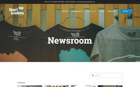 Screenshot of Press Page startuplisboa.com - Newsroom — Startup Lisboa - captured May 26, 2017