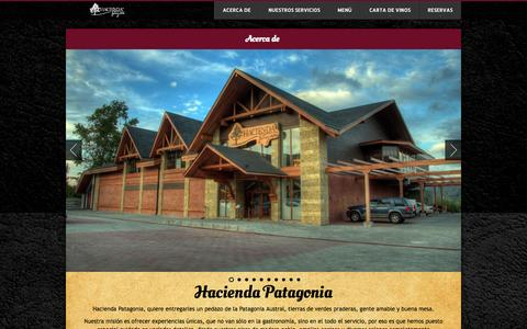 Screenshot of Menu Page haciendapatagonia.cl - Menú | Hacienda Patagonia - captured Sept. 27, 2014