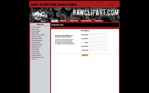 Screenshot of Signup Page rawclipart.com - , Graphics, and Stock Art for Logo Design - captured Oct. 6, 2014