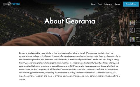 Screenshot of About Page georama.com - About | Georama - captured May 9, 2017