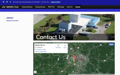 Screenshot of Contact Page mirwecfilm.com - MIRWEC Film, Inc. - captured Oct. 3, 2014