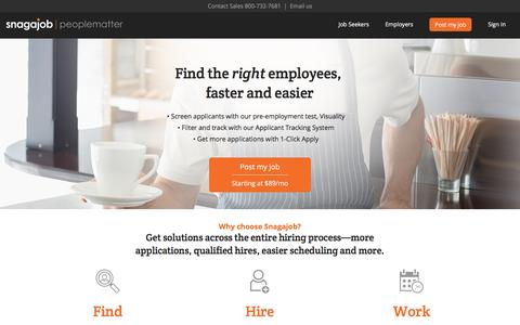 Post a Job Online   Find Employees – Snagajob