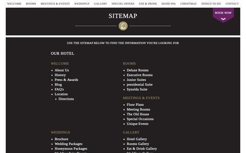Screenshot of Site Map Page dunboynecastlehotel.com - Sitemap of our Official Website | Dunboyne Castle Hotel & Spa - captured Oct. 9, 2018