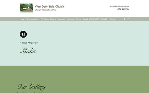 Screenshot of Press Page westdeerbible.org - Media | West Deer Bible Church - captured July 2, 2018