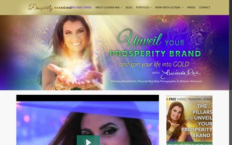 Screenshot of Home Page prosperitybranding.com - Crafting stunning website design and visual brands - captured Jan. 23, 2015