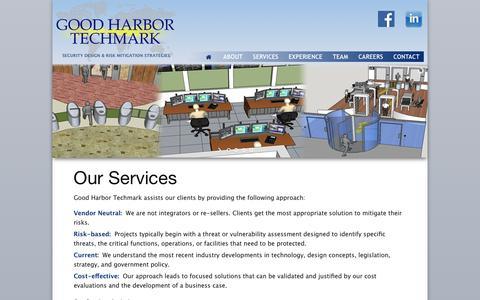 Screenshot of Services Page ghtechmark.com - Services   Good Harbor Techmark - captured Nov. 11, 2016