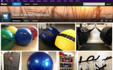 Screenshot of Flickr Page flickr.com - Flickr: Back In Action Wairarapa's Photostream - captured Oct. 23, 2014