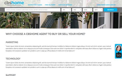 Screenshot of Support Page cbshome.com - Homes for sale in Omaha NE | CBSHOME Real Estate - captured Sept. 23, 2018