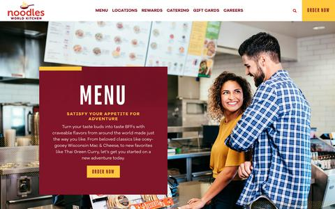 Screenshot of Menu Page noodles.com - Menu ~ Noodles World Kitchen - captured Oct. 13, 2018