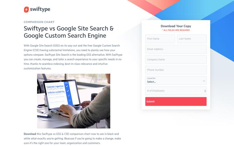 Swiftype vs Google Site Search & Google Custom Search Engine