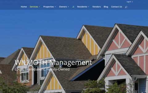 Screenshot of Team Page wilmothgroup.com - Indianapolis Property Management - captured Sept. 21, 2018
