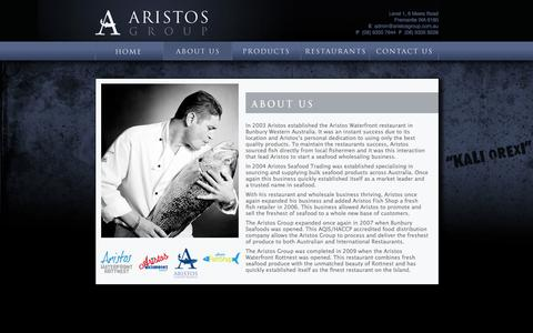 Screenshot of About Page aristos.com.au - ABOUT US - captured Oct. 4, 2014