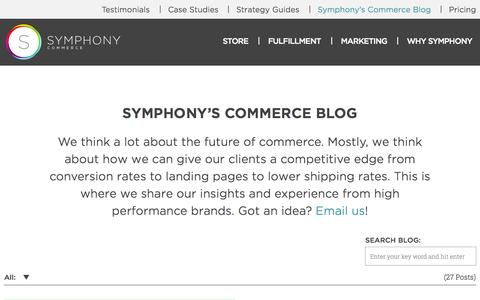 Screenshot of Blog symphonycommerce.com - Symphony's Commerce Bog - captured Sept. 17, 2014
