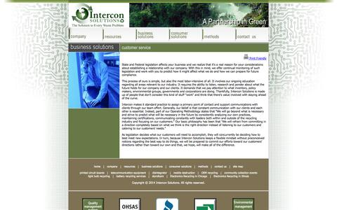 Screenshot of Support Page interconsolutions.com - Computer Recycling Electronic Recycling Recycling computer and electronics recycling experts at Intercon Solutions - www.interconsolutions.com - captured Oct. 27, 2014