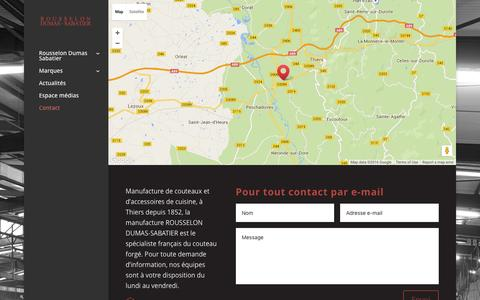 Screenshot of Contact Page rousselon.fr - Contact Rousselon Dumas-Sabatier - captured June 11, 2016
