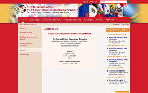 Screenshot of Contact Page tri-association.org - Tri Association: Contact Us - captured Oct. 22, 2018