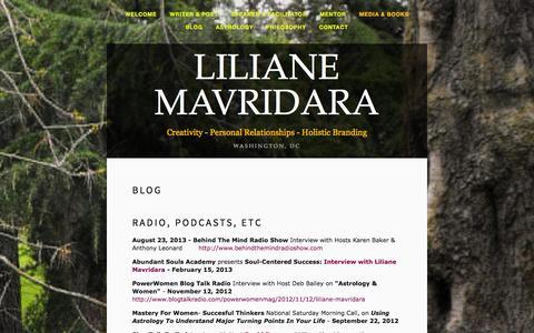 Screenshot of Press Page lilianemavridara.com - Media & Books - Liliane Mavridara - captured Oct. 8, 2014