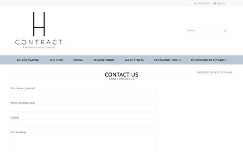 Screenshot of Contact Page hcontractfurniture.com - Contact Us | H Contract Furniture - captured Sept. 26, 2014