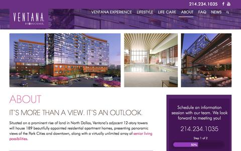 Screenshot of About Page ventanabybuckner.com - Senior Living - About Us | Ventana By Buckner - captured Nov. 27, 2017