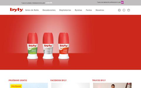 Screenshot of Home Page byly.com - Byly  Byly: La máxima expresión de la higiene y del cuidado de la piel - captured Sept. 26, 2018