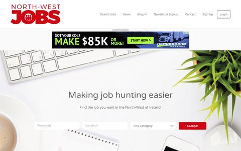 Screenshot of Home Page north-westjobs.com - Home - North-West Jobs - captured Nov. 19, 2018
